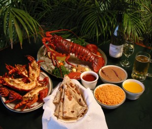 A serving of traditional Puerto Nuevo-style lobster. Photo By Rosarito Beach ConVis