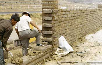 Las Gaviotas March 1970 Constructing Community Outside Wall