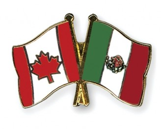 Mexico Canada flags